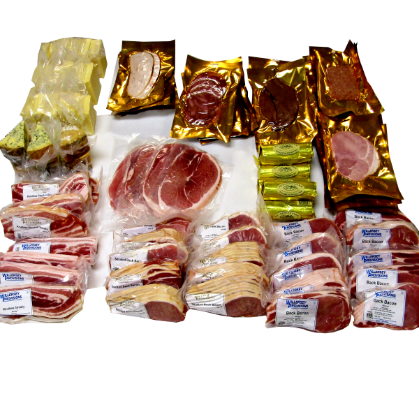 Retail Mixed shop products box Bacon, Cheese, ham etc