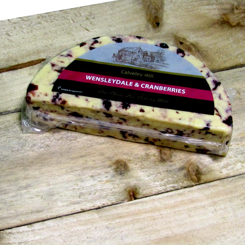 Calverley Mill Wensleydale & Cranberry Half Moon Cheese
