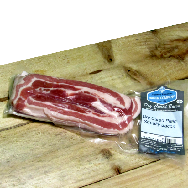 Dry Cure Gloucestershire Streaky Bacon 0.400kg