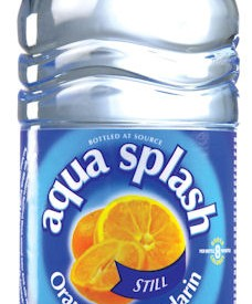 Flavoured water Bottles Aqua Splash 24 x 500ml Orange & Mandarin