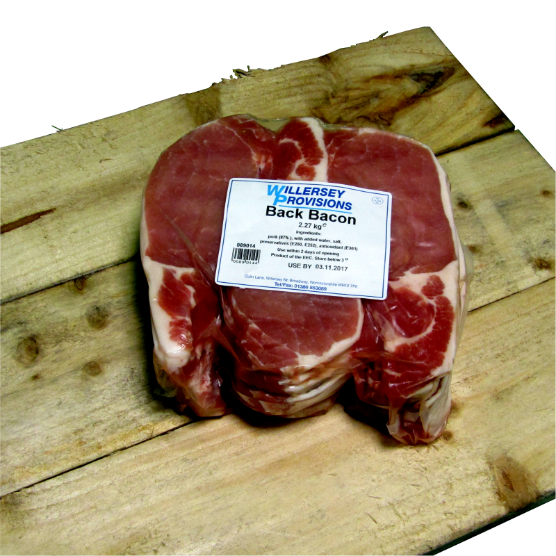 Back Bacon (5lb) 2.27kg  **5LB PACKS**