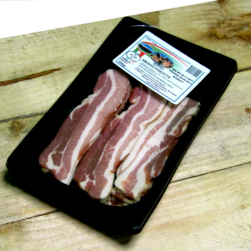 500g Smoked sliced Pancetta