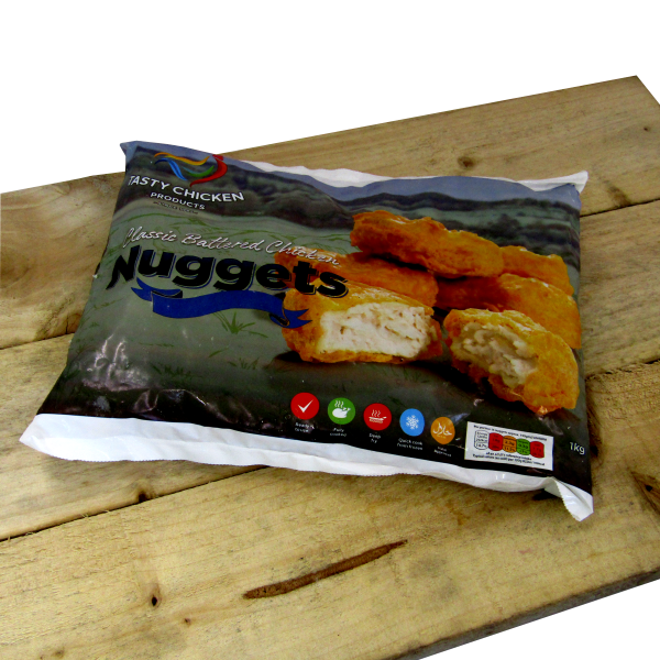 Battered Chicken Nuggets 1kg **frozen**