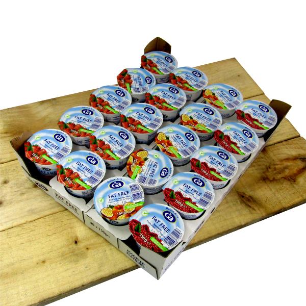 Fat Free Assorted Fruit Yoghurts 20 x 150gm