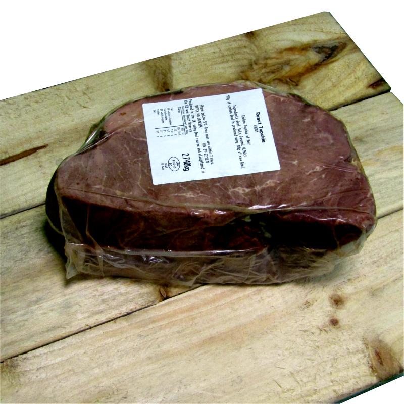 Cooked 100% Topside Beef Half