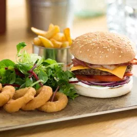 T/S (1003F) 4.5 Burger Bun seeded x 60 **Frozen**